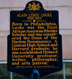 Alain Locke Historic Marker